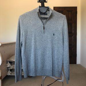 Polo by Ralph Lauren Shirts - Polo Ralph Lauren Grey Quarter-zip Sweatshirt